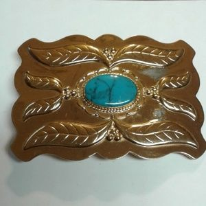 💖 Belt Buckle Copper and Turquoise